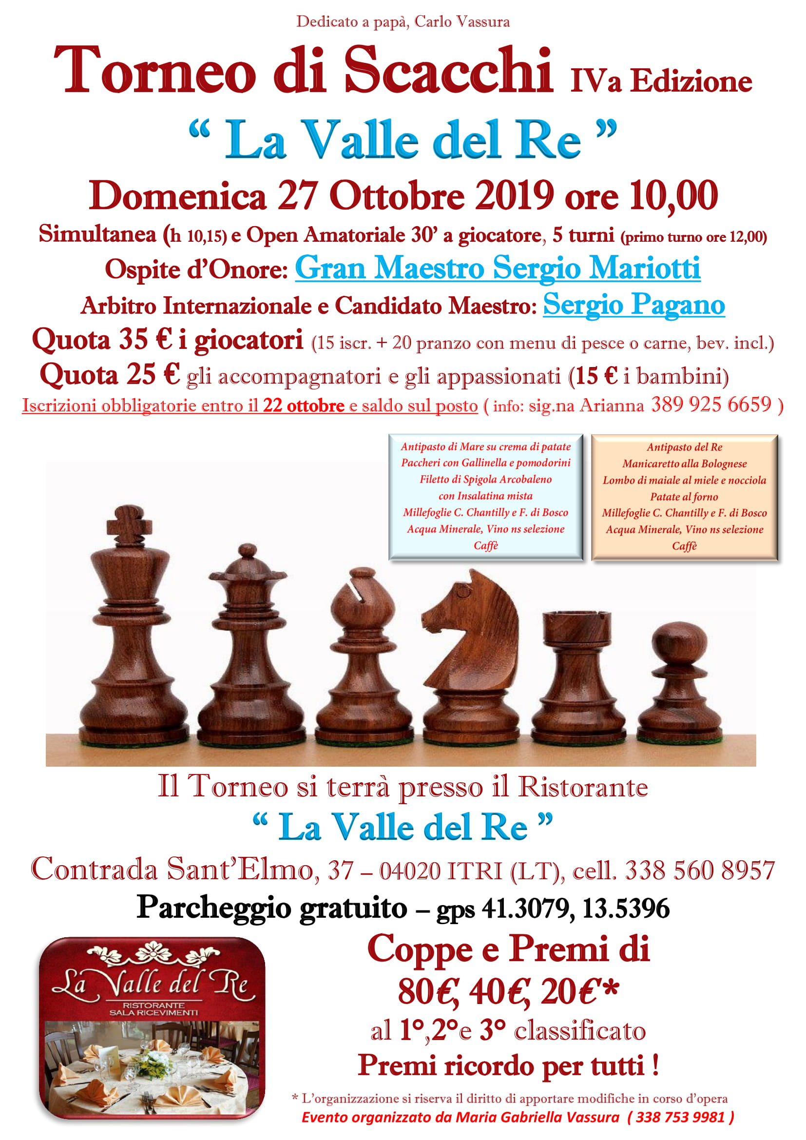 "Torneo ""La Valle del Re"" (27/10/2019)"